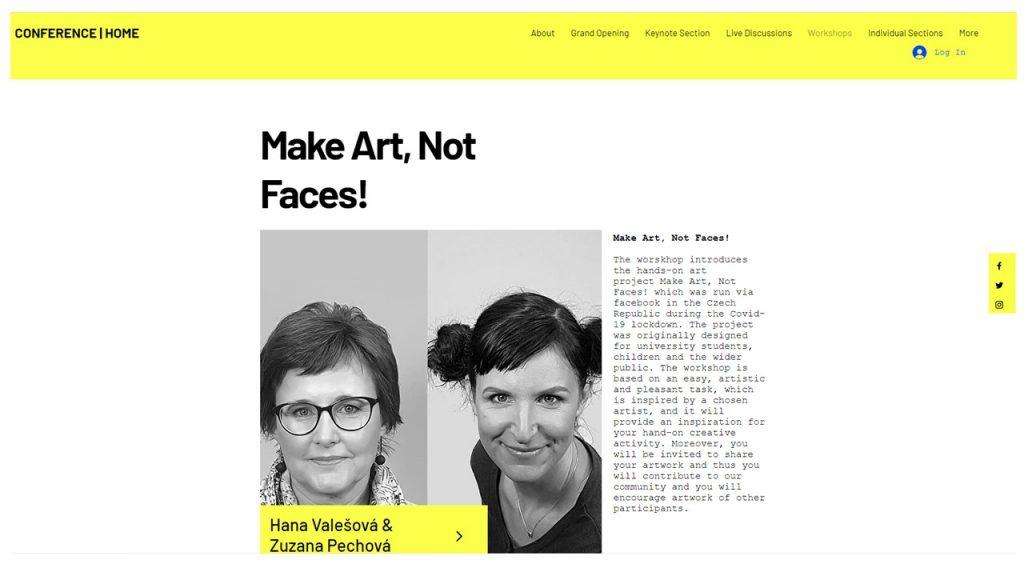 Make art, not faces - poster