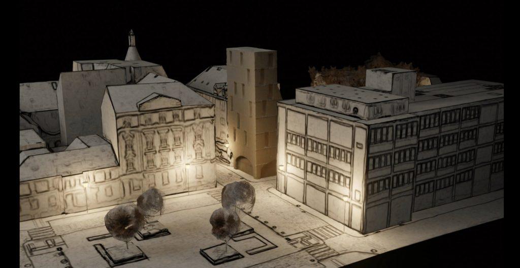 Prostor kresba model 3Dscan